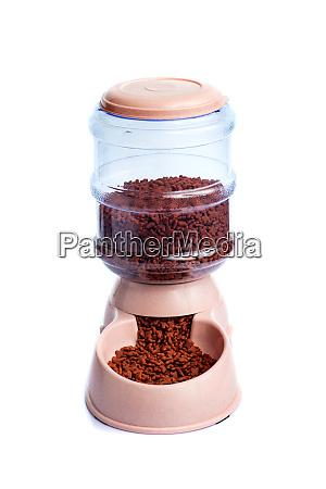 pet dry food storage meal feeder