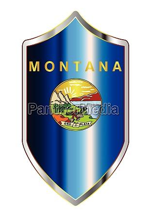 montana state flag on a crusader