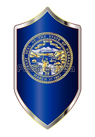 nebraska state flag on a crusader