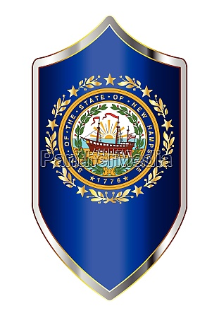 new hampshire state flag on a