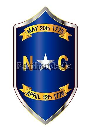 north carolina state flag on a