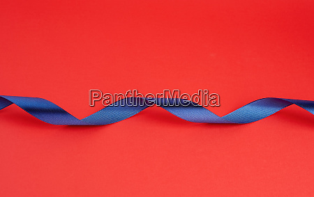 twisted dark blue silk shiny ribbon