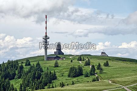 the feldberg summit with weather radar