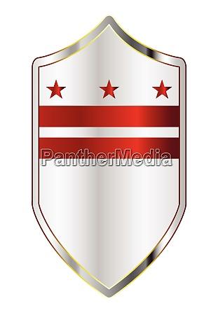 washington dc state flag on a