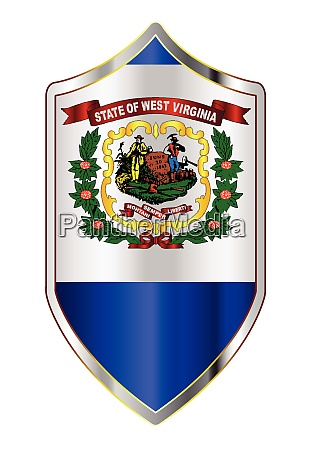 west virginia state flag on a