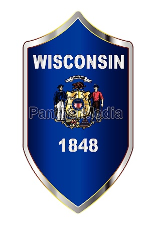 wisconsin state flag on a crusader