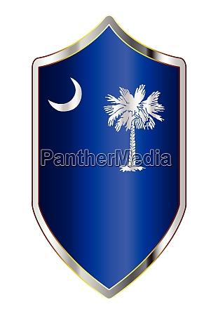 south carolina state flag on a