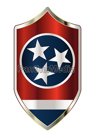 tennessee state flag on a crusader