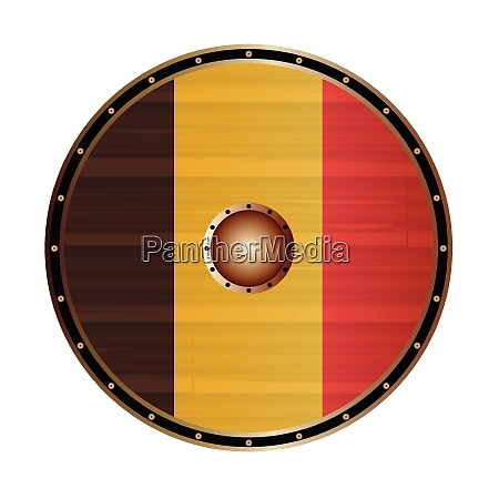round viking style shield with belgium