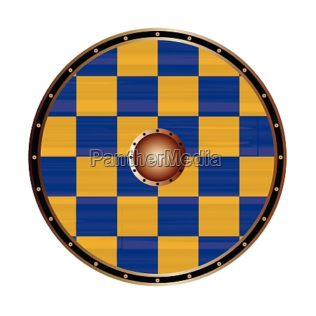 round shield with the flag of