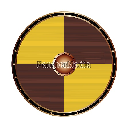 round viking shield with large squares