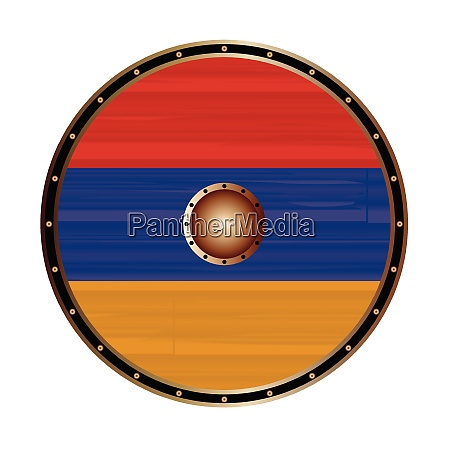 round viking style shield with armenian