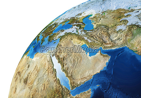 earth globe close up of the