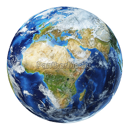 earth globe 3d illustration africa and