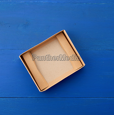 open empty brown cardboard box for