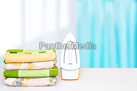 household laundry ironing close up of