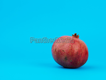 ripe red pomegranate in a peel