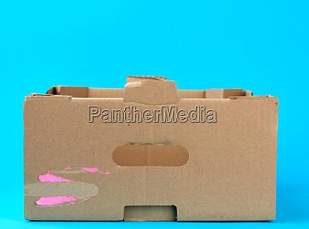 rectangular empty cardboard box of brown