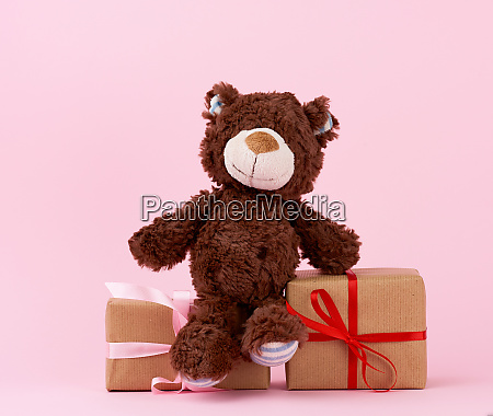 brown cute teddy bear and gifts