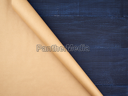 untwisted roll of brown craft paper