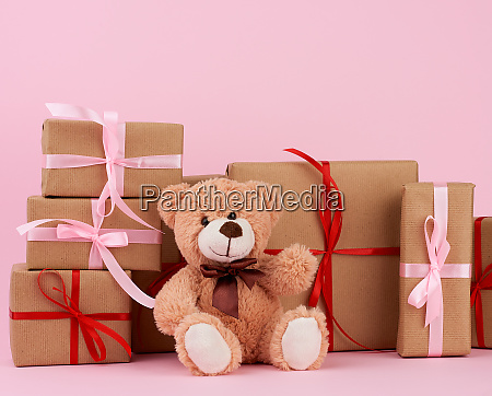 brown, cute, teddy, bear, and, gifts - 27962522