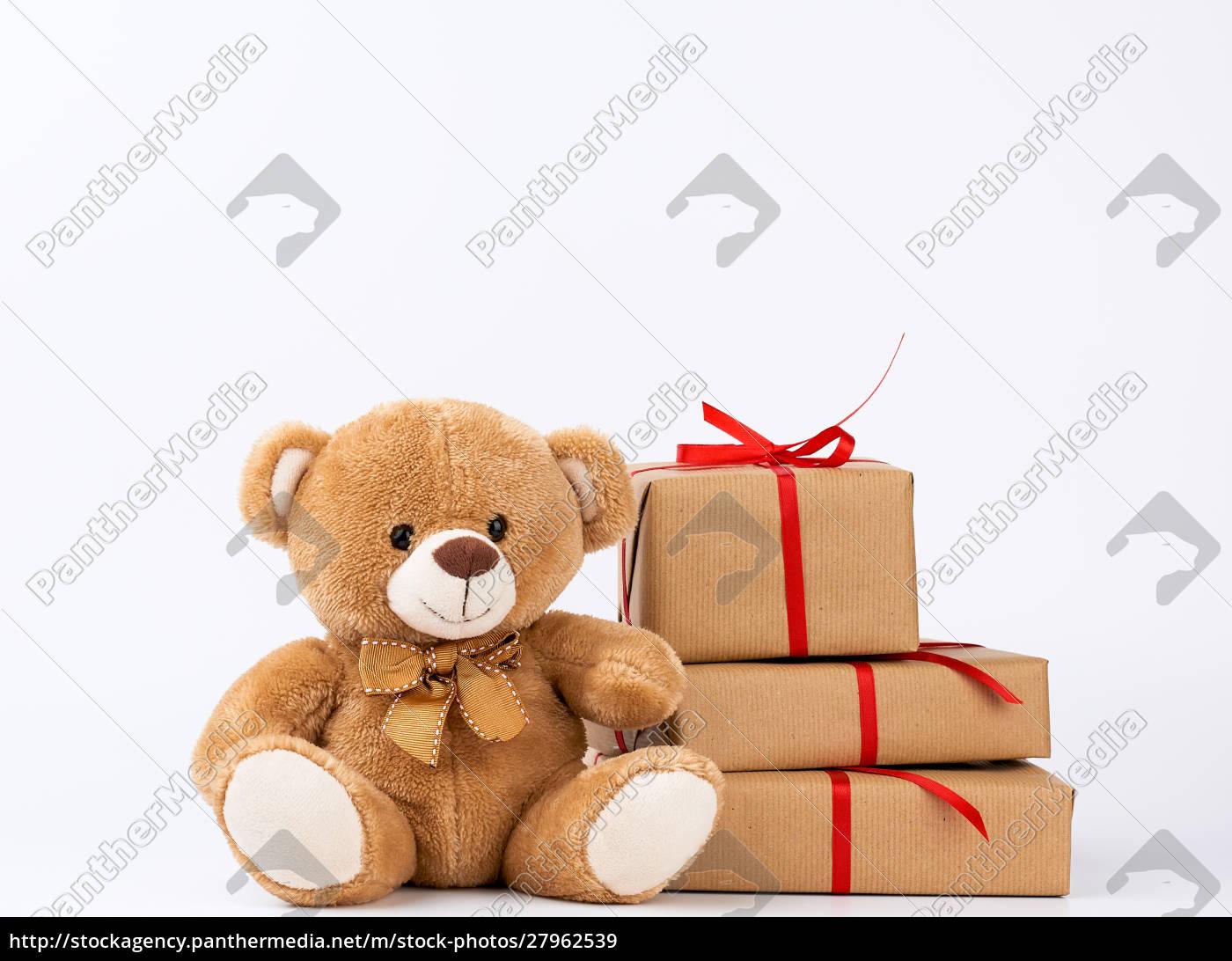 cute, beige, teddy, bear, and, stack - 27962539