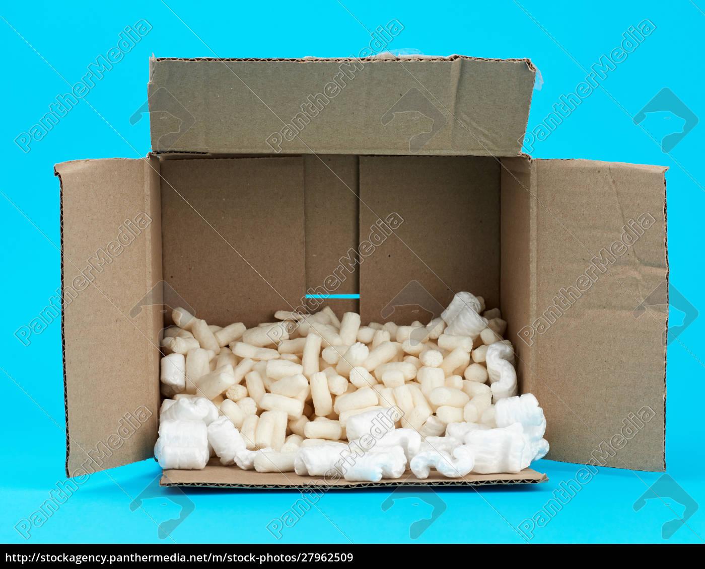 open, rectangular, brown, cardboard, box, with - 27962509