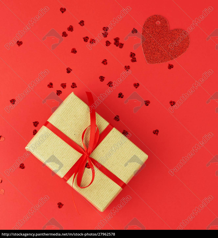 rectangular, box, wrapped, in, brown, kraft - 27962578