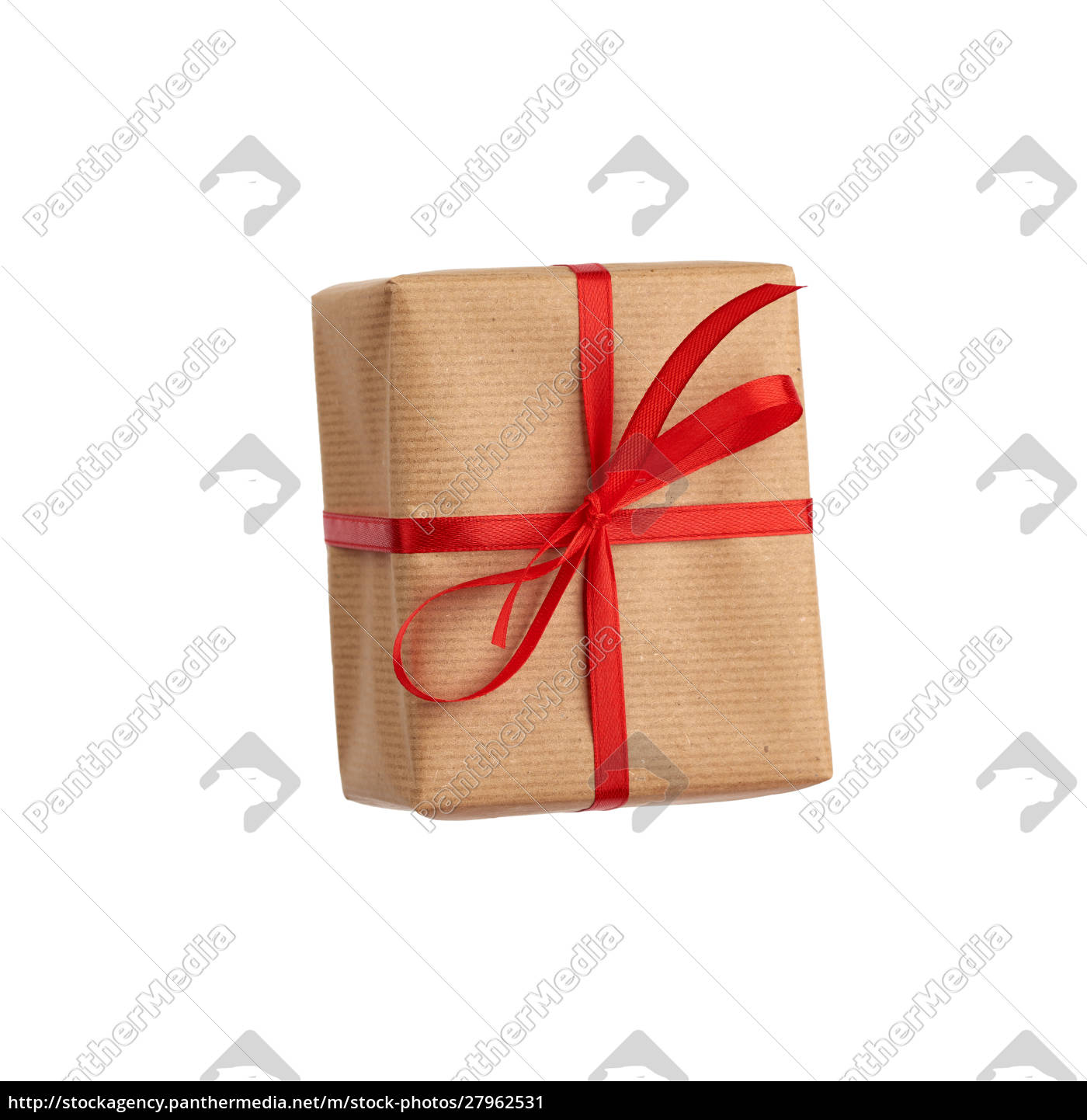 rectangular, box, wrapped, in, brown, paper - 27962531