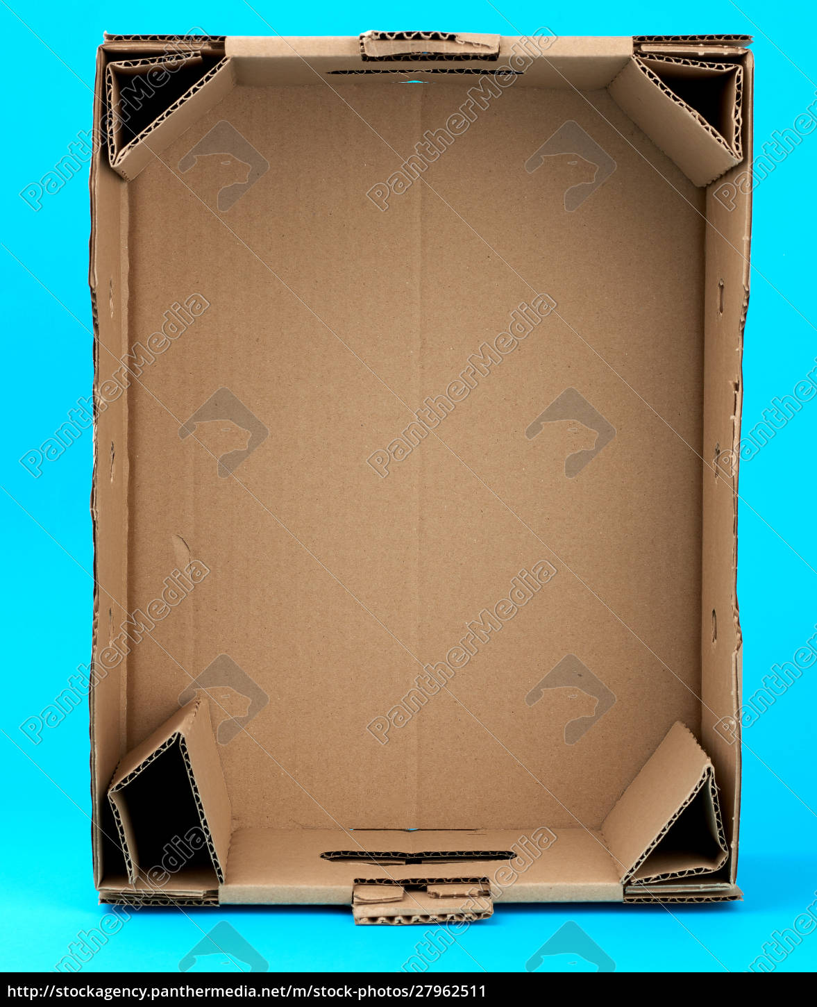 rectangular, empty, cardboard, box, of, brown - 27962511