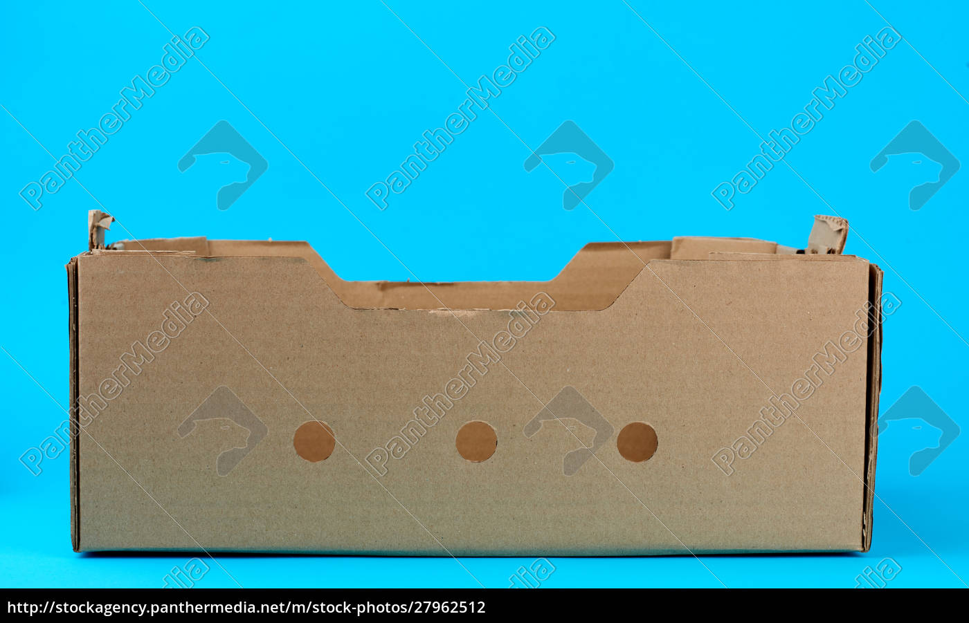 rectangular, empty, cardboard, box, of, brown - 27962512