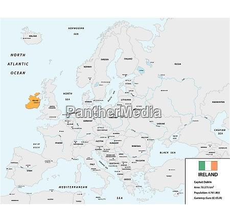 location of ireland on the european