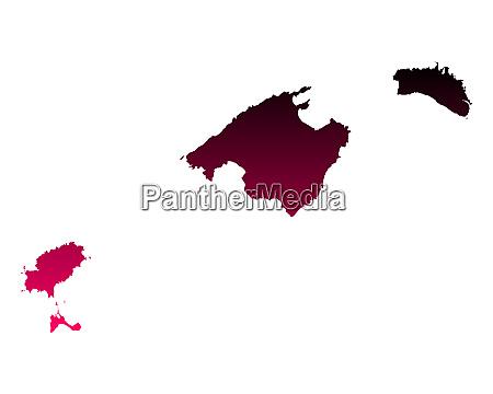 map of balearic islands
