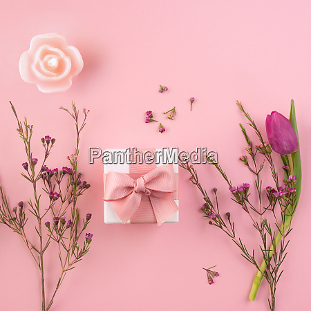 flower decoration with small gift