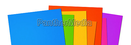 colorful rainbow blank a4 paper sheet