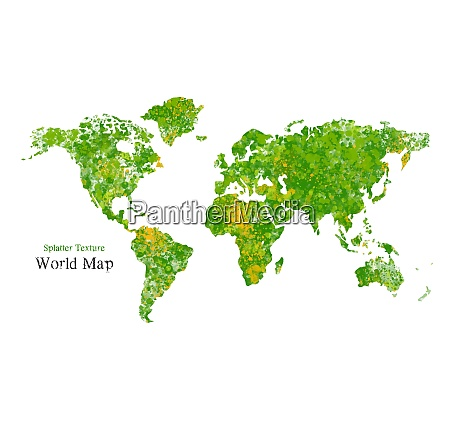 wold map with splatter texture