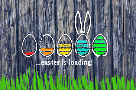 easter is loading concept in front
