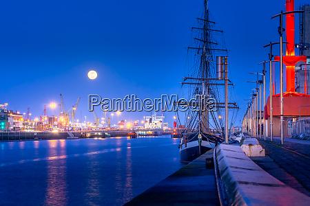 tall ship anchored on dublin docks
