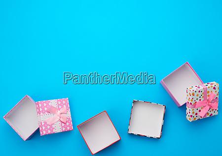 open brown square cardboard empty box