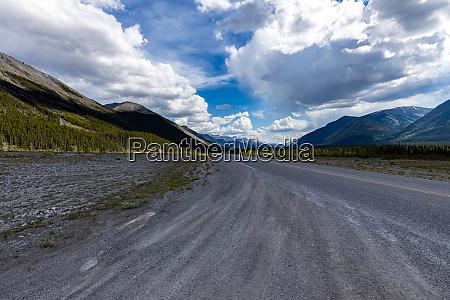 the landscape of the alaska highway