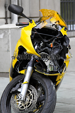 crushed motorcycle