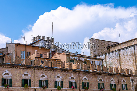 houses of the umbrian towns