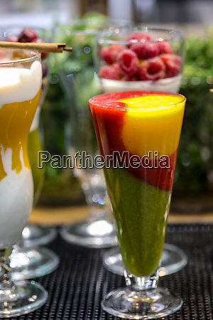 colorful cocktail of fruits and vegetables
