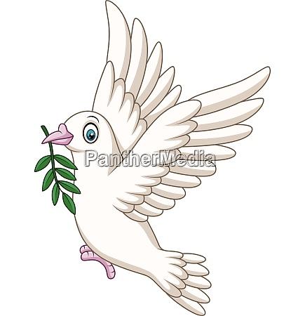 cartoon dove birds logo for peace