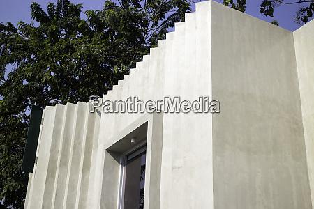 exterior design loft building in summer
