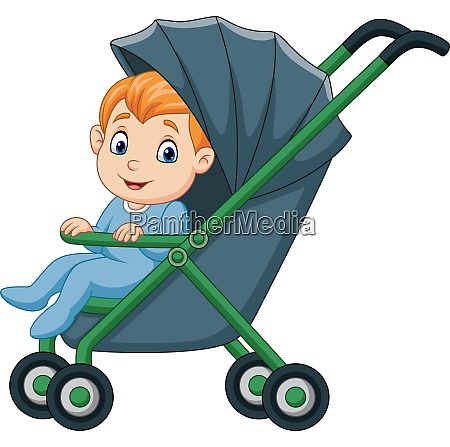 cartoon happy baby boy in a