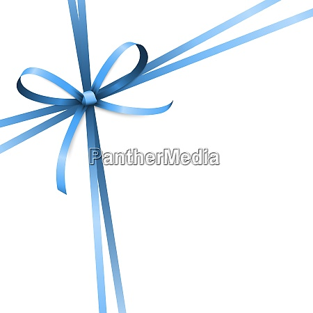 blue colored ribbon bow