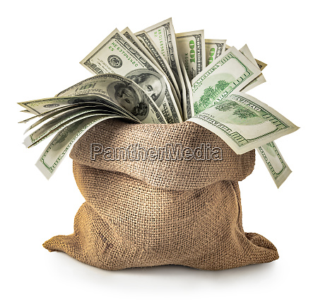 dollars in a sack