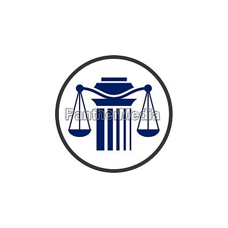 pillar logo design for a law