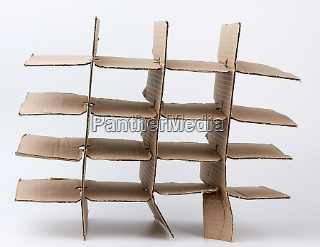 brown cardboard partition for a box